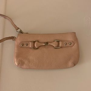 Paradox Blush Pink Leather Wristlet/Clutch